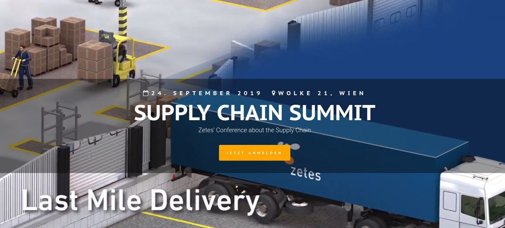 Zetes Supply Chain Summit 2019 in Wien