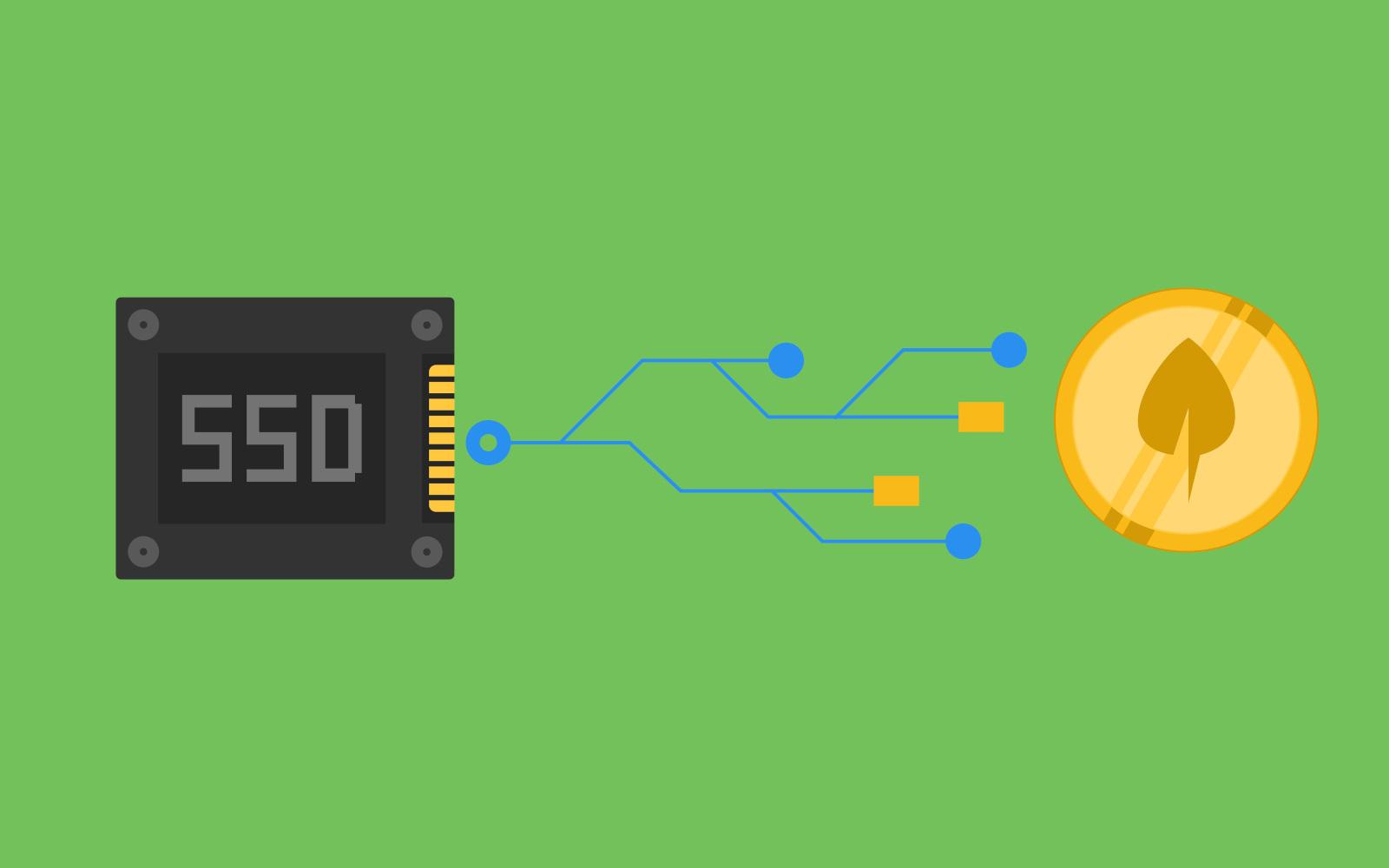 Kryptowährungen auf Basis von freiem Speicherplatz. Pietrzaks alternative Konstruktion der Blockchain ist effizienter und damit nachhaltiger als die vorrangig genutzten Methoden. © Shutterstock